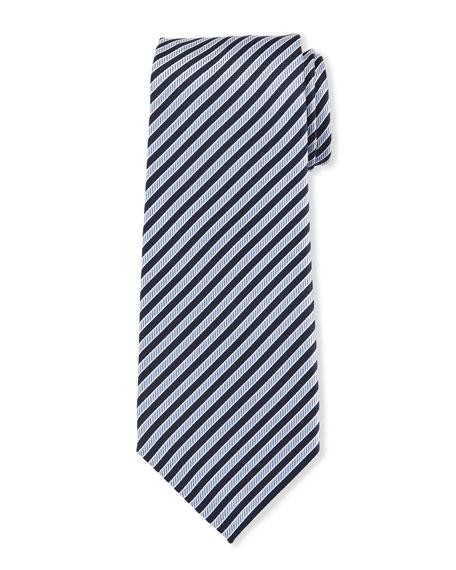 Giorgio Armani Men's Striped Silk Jacquard Tie