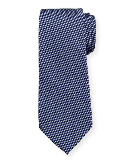 Giorgio Armani Men's Linear Jacquard Silk-Cotton Tie