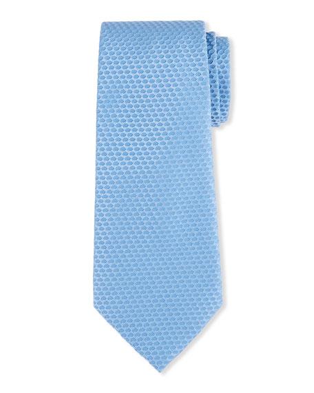 Giorgio Armani Men's Silk-Cotton Tonal Geometric Jacquard Tie