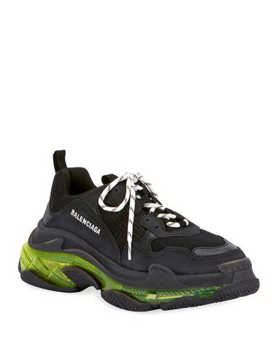 Men's Triple S Clear-Sole Sneakers
