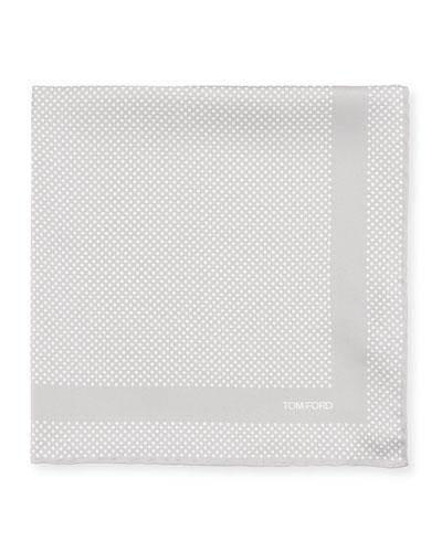 Men's Silk Polka Dot Pocket Square
