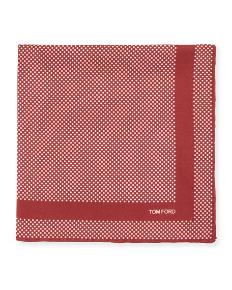 TOM FORD Men's Silk Polka Dot Pocket Square