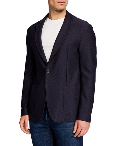 Men's Stretch Soft Two-Button Jacket