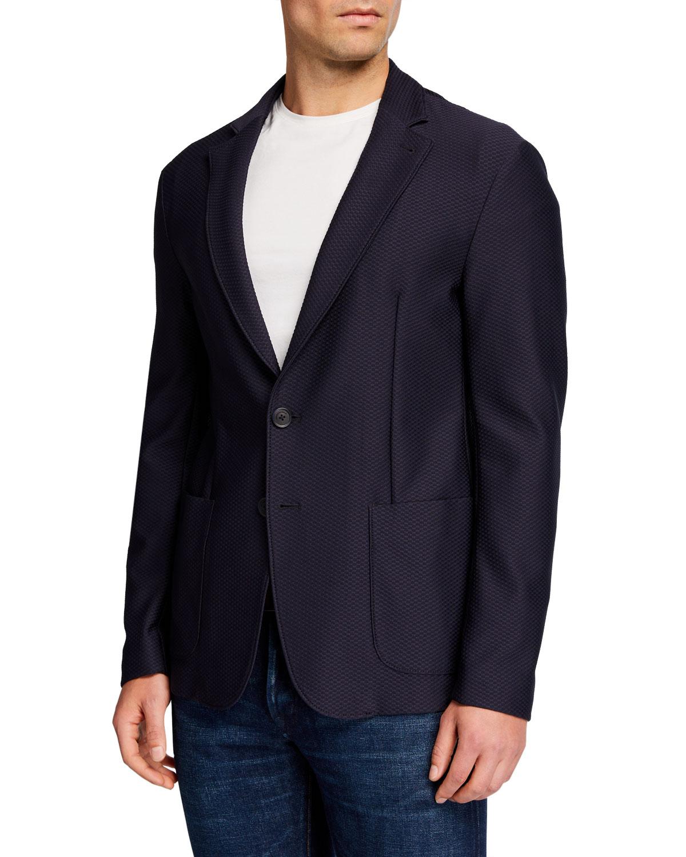 Men's Stretch Soft Two-Button Jacket