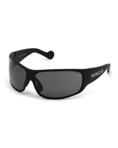 Men's Logo Shield Sunglasses