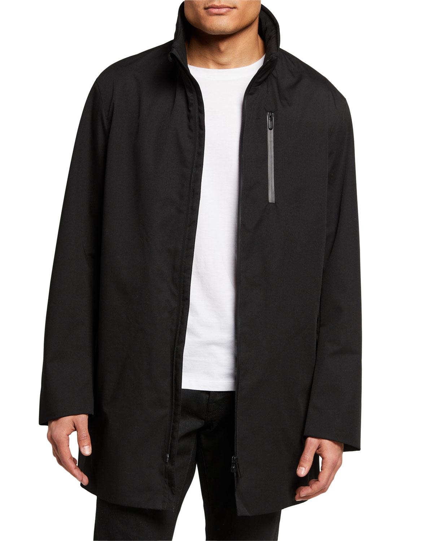 Men's Stand-Collar Matrix Jacket w/ Zip Detail