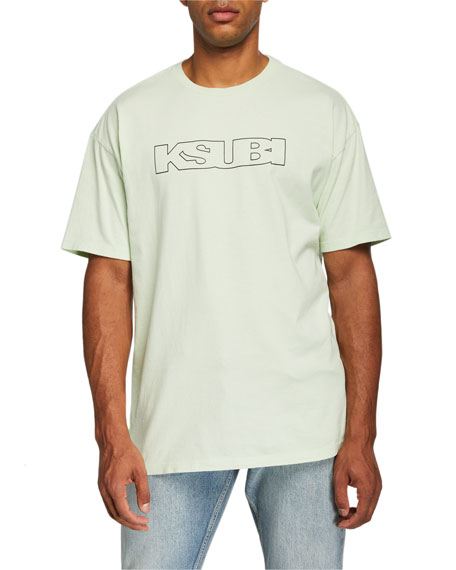 Ksubi Men's Sign of the Times Typographic Oversized T-Shirt