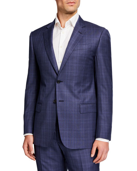 Emporio Armani Men's G Line Plaid Two-Piece Suit
