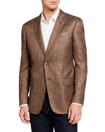 Men's G Line Textured Two-Button Jacket