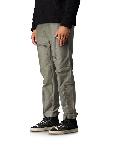 Ovadia Men's Multi-Zip Flight Pants