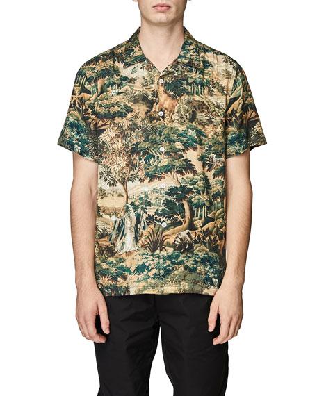 Ovadia Men's Wizard Tapestry Beach Shirt