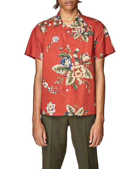Ovadia Men's Floral Beach Short-Sleeve Sport Shirt