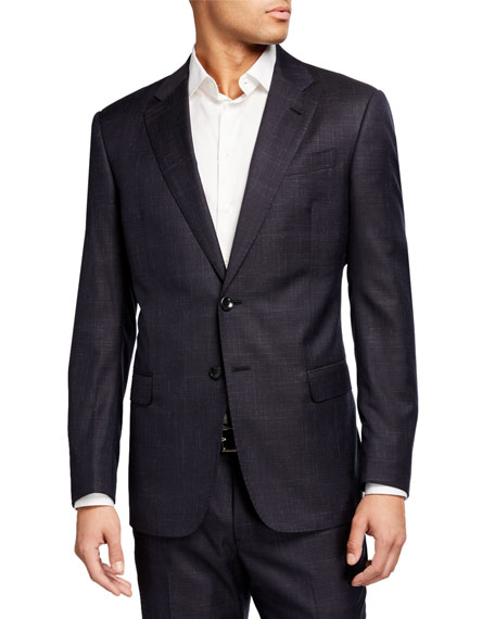 Giorgio Armani Men's Textured Screen Wool Two-Piece Suit