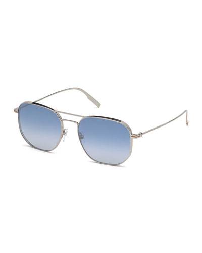 Men's Metal Gradient Aviator Sunglasses