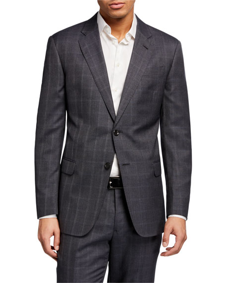 Giorgio Armani Men's Windowpane Wool Two-Piece Suit