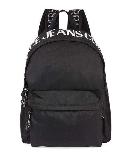 Versace Jeans Couture Men's Nylon Logo Backpack