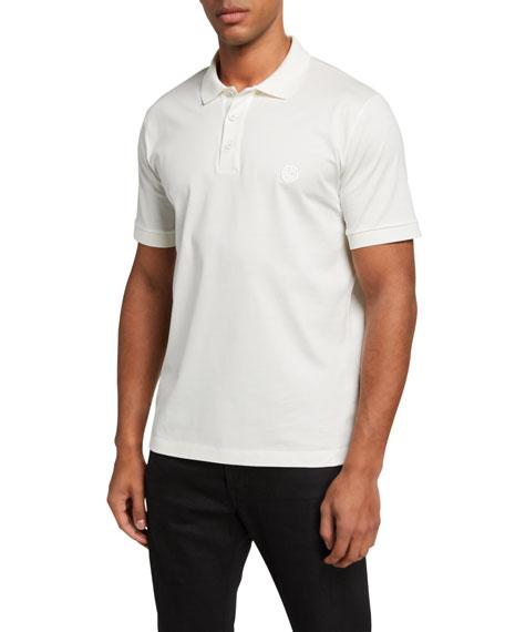 Giorgio Armani Men's Micro-Pique Polo Shirt