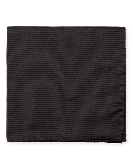 Emporio Armani Men's Tonal Stripe Silk Pocket Square