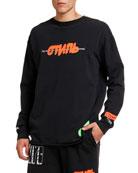Heron Preston Men's CTNMB Spray Paint Graphic Sweatshirt