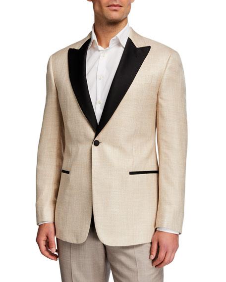 Emporio Armani Men's Contrast-Trim Textured Dinner Jacket