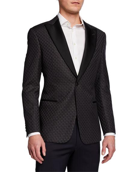 Emporio Armani Men's Geo-Pattern Wool Dinner Jacket