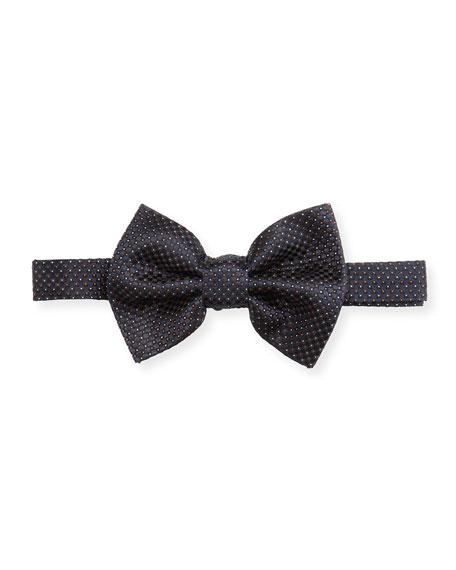 Emporio Armani Micro-Dot Silk Bow Tie