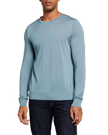 Giorgio Armani Men's Plain Knit Wool Sweater