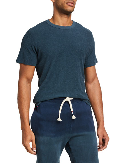 Sol Angeles Men's Loop Terry Short-Sleeve Crewneck T-Shirt
