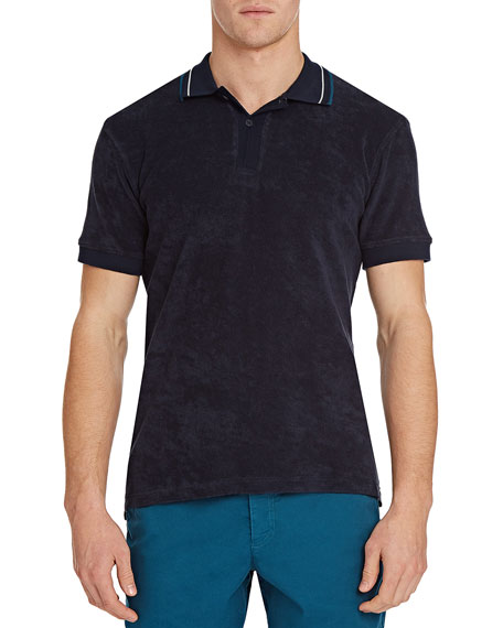 Orlebar Brown Men's Sawyer Toweling Tipped-Collar Polo Shirt
