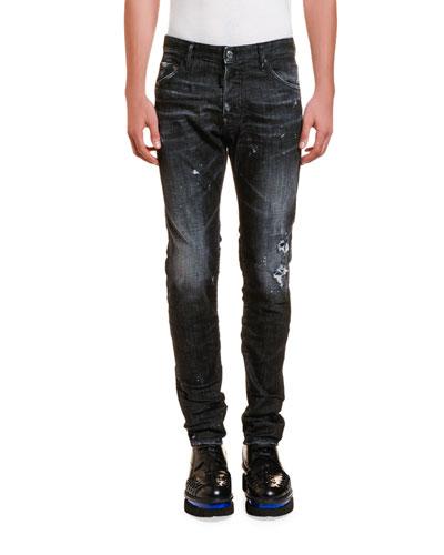 Men's Cool Guy Paint-Splattered Jeans