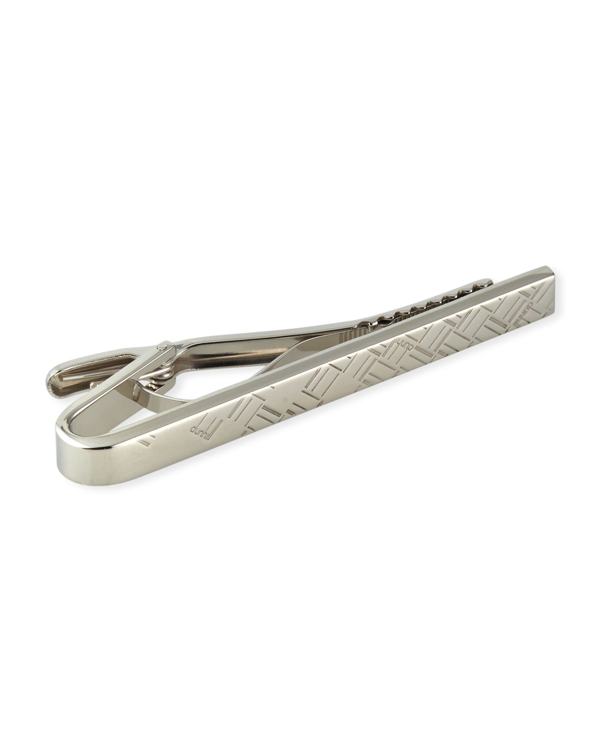 Men's Abstract Longtail Silver Tie Bar