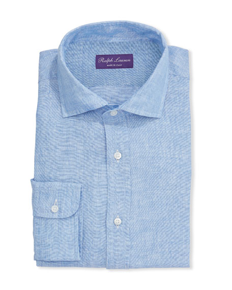 Ralph Lauren Purple Label Men's Solid Linen Dress Shirt