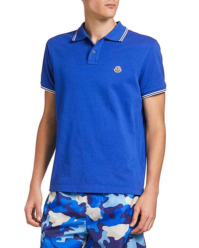 Men's Striped-Trim Polo Shirt