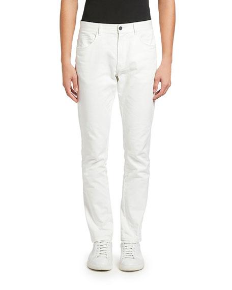 Moncler Men's White-Wash Basic Jeans