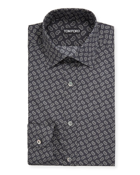 TOM FORD Men's Micro-Paisley Dress Shirt
