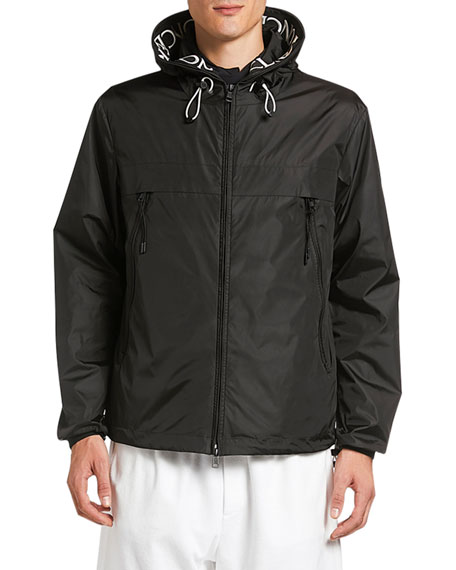 Moncler Men's Massereau Logo-Trim Wind-Resistant Jacket