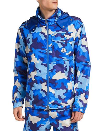 Men's Vidourle Camo Wind-Resistant Jacket