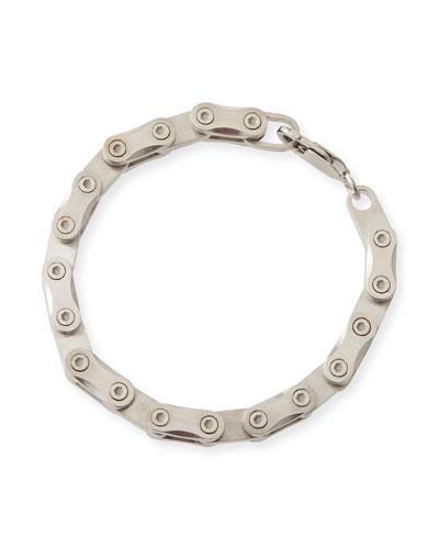 Men's Silver Hex Link Bracelet