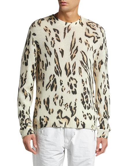 Moncler Genius Men's 1952 Cheetah-Print Sweatshirt