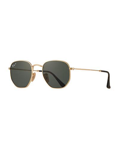 Men's Round Metal Polarized Sunglasses
