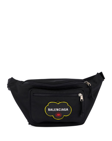 Balenciaga Men's Logo-Patch Belt Bag