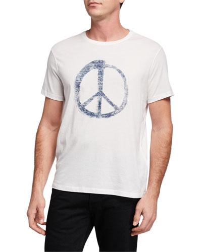 Men's Peace Symbol Graphic T-Shirt