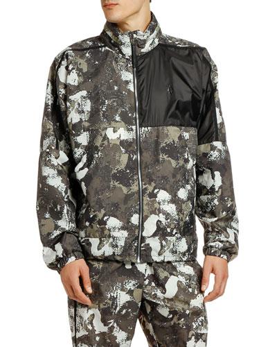 Men's Cross Camo Nylon Wind-Resistant Jacket