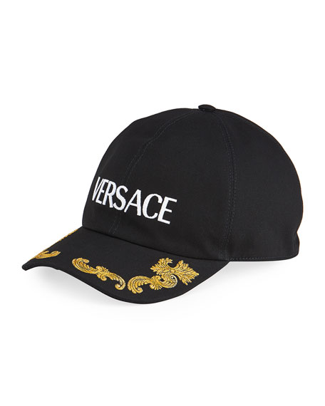 Versace Men's Logo Baseball Hat w/ Western Detail