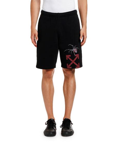 Off-White Men's Arachno Arrow Graphic Sweat Shorts