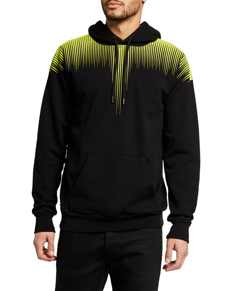Marcelo Burlon Men's Fluorescent Wings Hoodie