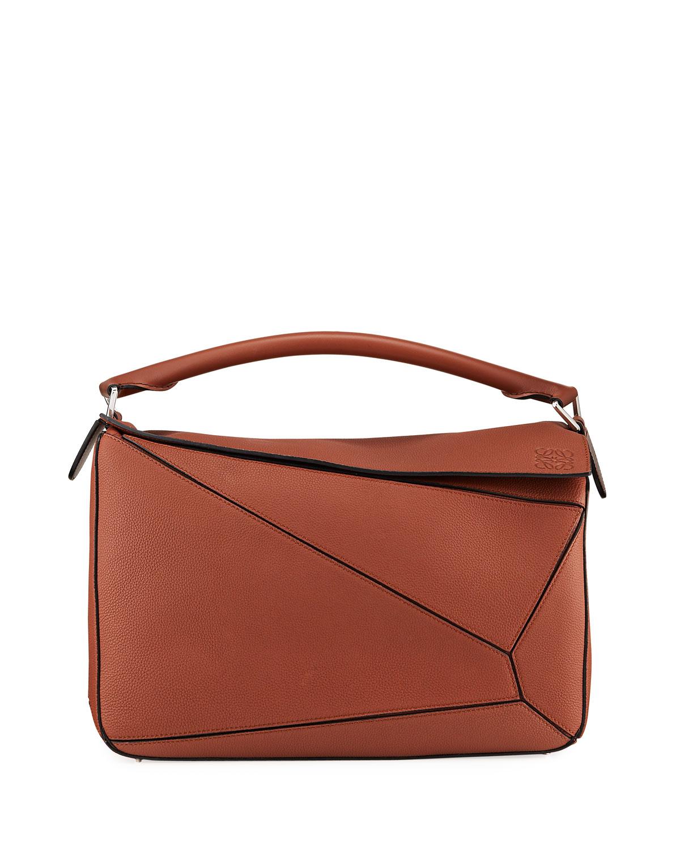 Men's Puzzle Leather Crossbody/Shoulder Bag
