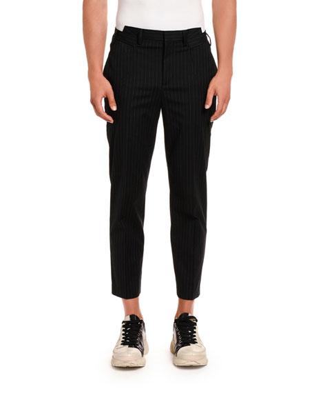 Neil Barrett Men's Fine Pinstripe Straight Cotton Pants
