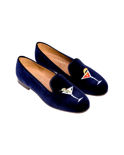 Men's Martini Velvet Slippers