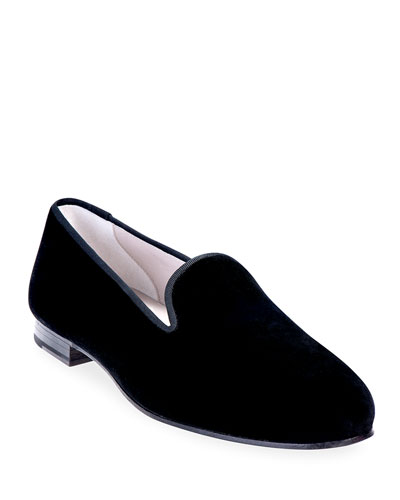 Men's Solid Velvet Venetian Loafers